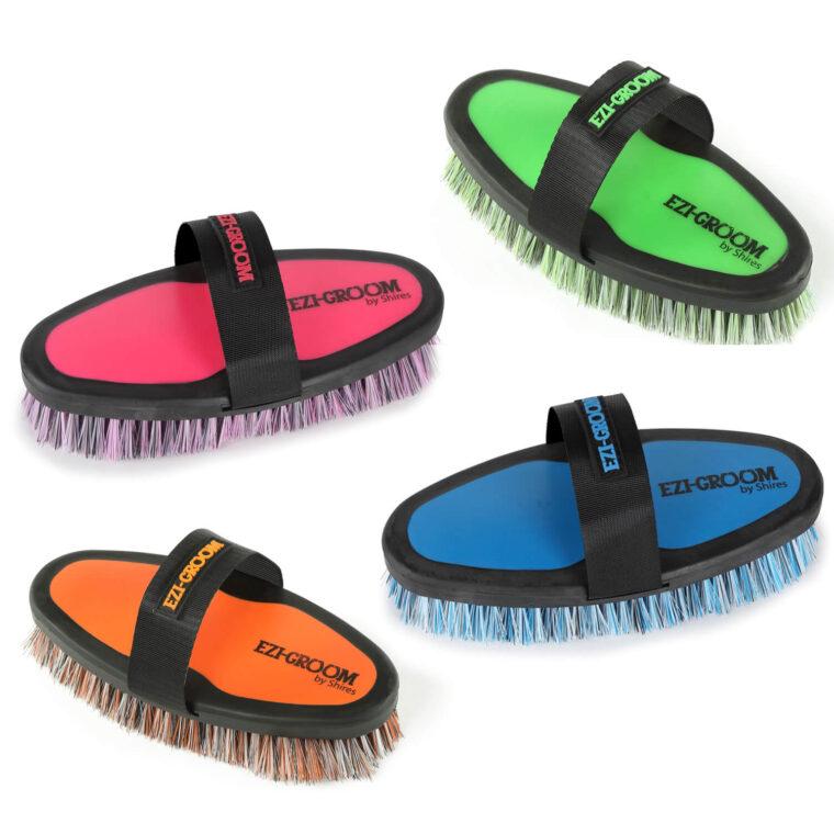 Shires Ezi-Groom body brush cleaning