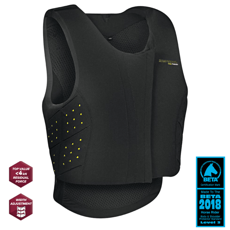 Komperdell Slim-Fit Frontzip Junior Safety Vest